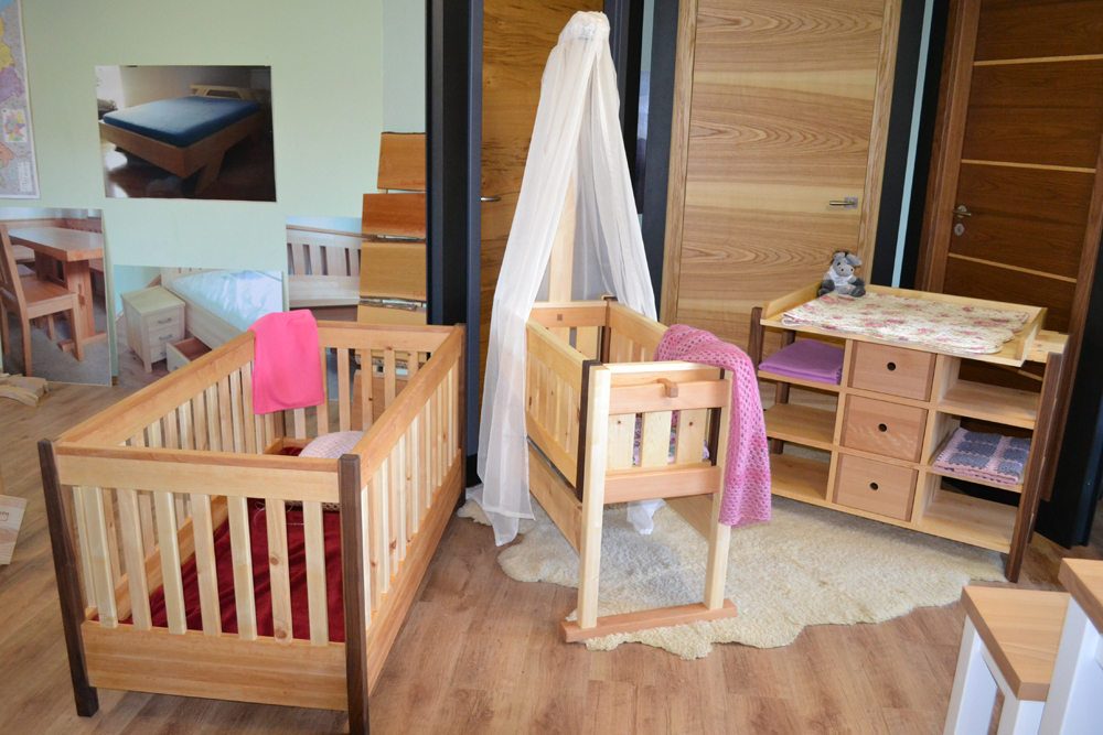 Kinderbett Luise2 mit Zirbe